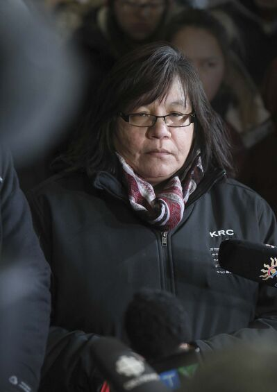 The lack of safe water to drink has had traumatic consequences in their community, Tataskweyak Chief Doreen Spence says. (Ruth Bonneville / Winnipeg Free Press files)</p>