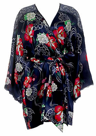 Floral kimono  comes with  matching chemise.