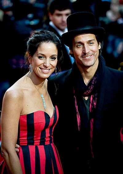 Singer Chantal Kreviazuk, accompanied by her husband, Raine Maida, stand for a photo on the red carpet during Canada's Walk of Fame at the Elgin Theatre in Toronto on Saturday, October 1, 2011.