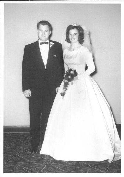 Supplied</p><p>Jones and wife Carol on their wedding day in 1966.</p>