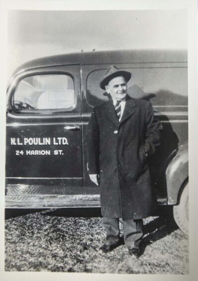 Lincoln Poulin's grandfather, Napolean.</p>