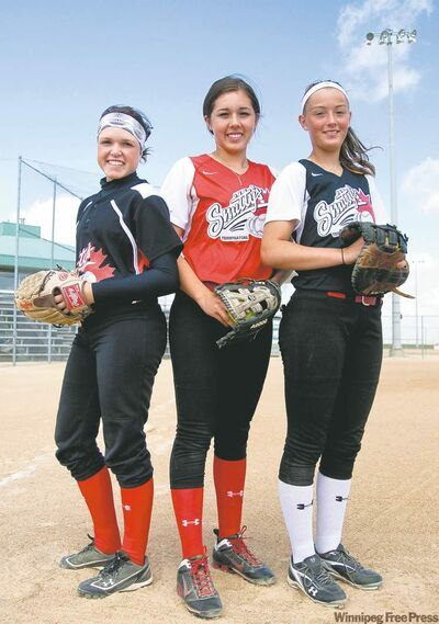 Shortstop Makensy Payne, third baseman Haley Studler and first baseman Olivia Thorleifson will be taking the field for the Women's Canadian Fast Pitch Championships being held in Winnipeg Aug. 14-21.