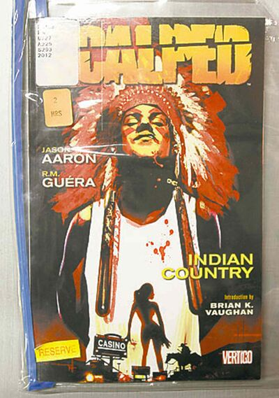 An aboriginal graphic novel part of the Mazinbiige Indigenous Graphic Novel Collection  in the U of M Elizabeth Dafoe Library.  To go with interview with Niigaan Sinclair.  Wayne Glowacki / Winnipeg Free Press Dec.20. 2013