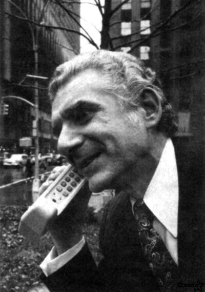 Martin Cooper on Sixth Avenue in New York in 1973.