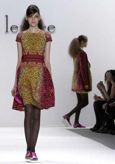 Fashion from the Fall 2012 collection of Nanette Lepore in New York. Lepore's work will be featured in a fashion show fundraiser for the WAG.