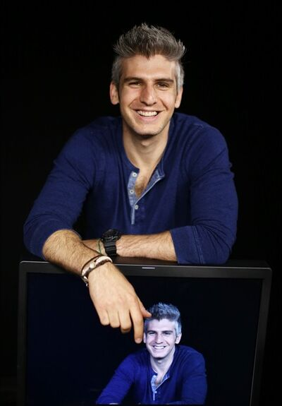 """In this Thursday, June 13, 2013 photo, Max Joseph, host of MTV's series """"Catfish: The TV Show,""""poses for a portrait in Los Angeles. The show's second season premieres Tuesday, June 25, 2013. (Photo by Matt Sayles/Invision/AP)"""