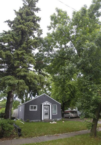 A house in the 200 block of Linden Avenue was struck by lightning during the overnight thunderstorm in Winnipeg.