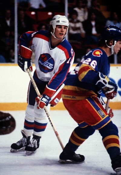 The old Jets: a young  Dale Hawerchuk in the early 1980s.