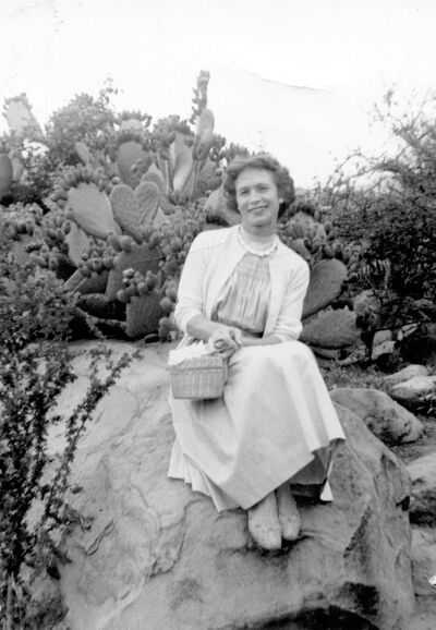 Olga Herdy in California where she lived 1953-1957.</p></p>