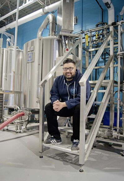 Andrew Sookram is the owner of Sookram's Brewing Company. The new Fort Rouge-based production brewery and taproom is set to open in early March.