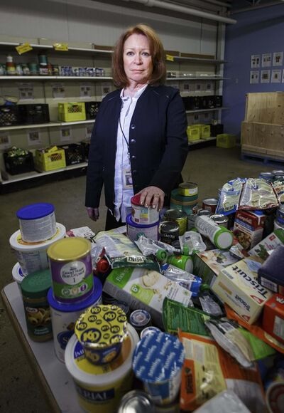 MIKE DEAL / WINNIPEG FREE PRESS</p><p>Winnipeg Harvest&rsquo;s Kate Brenner calls the drop in cash donations this month &#8216;pretty significant.&rsquo;</p>