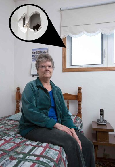A spotlighting hunter's errant bullet was shot through the home of Doreen Sliworsky in Winnipegosis.