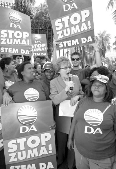 Democratic Alliance Leader Helen Zille, seen in 2009, has a scant chance of beating the ANC and Jacob Zuma.