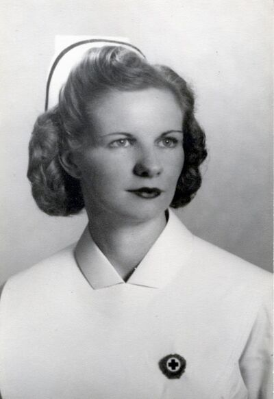 Ruth Mechler on graduation day from nursing school in March 1947