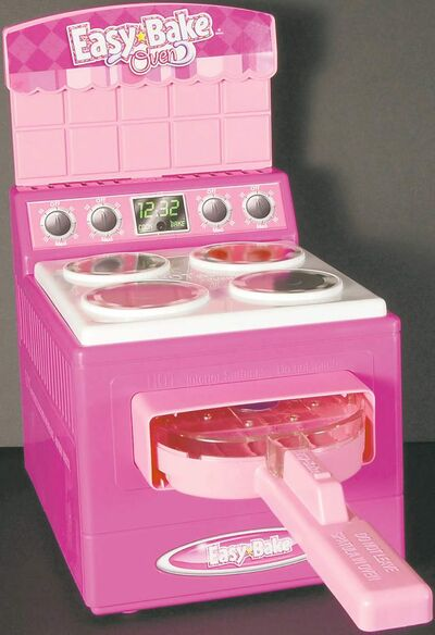 This undated handout file photo provided by the Consumer Product Safety Commission (CPSC), shows an earlier model of the Hasbro Inc. Easy Bake Oven, an iconic toy with a four-decade history. The toy has been given a top-to-bottom redesign, at the heart of which is a new heating element more like that of a traditional oven.