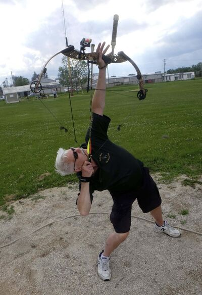 Ray Cheys of the Robin Hood Archery Club has been a member for decades and has been named 'King Shooter' numerous times.</p>