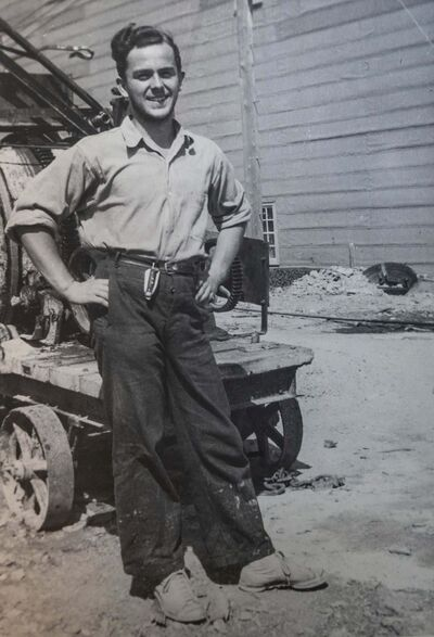 SUPPLIED</p><p>Crabb, age 16, working at a mining camp. </p>