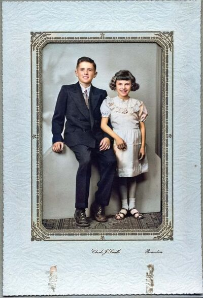 Supplied</p><p>Kentner and her brother, Bill, in 1953 when she was eight years old and recovering from her kidney illness.</p>