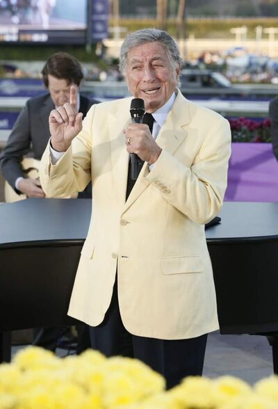 Tony Bennett at Breeders Cup in California in early November.