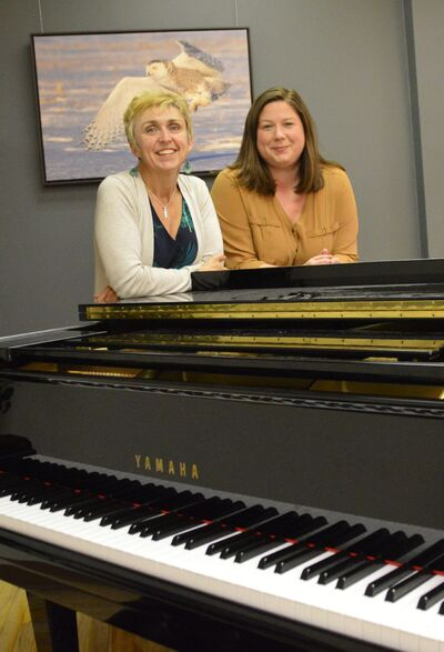 Shannon Sawatzky and Meredith Hutchinson, seen here in a studio at the Steinbach Arts Council building, are taking on the roles of co-chairs for the upcoming Eastman Regional Choral Association season.