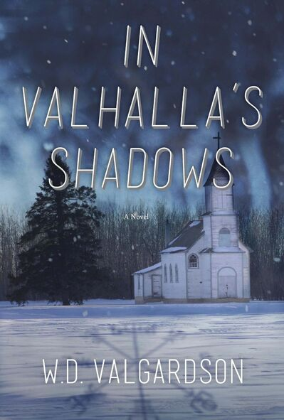 """Cover art of """"In Valhalla's Shadows""""</p><p>by W. D. Valgardson</p></p>"""