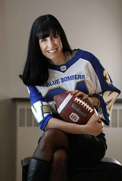 RUTH BONNEVILLE / WINNIPEG FREE PRESS <p />  Dayna Spiring says she's proud to be the first woman to lead the Bombers board, but adds, 'it's about time.'