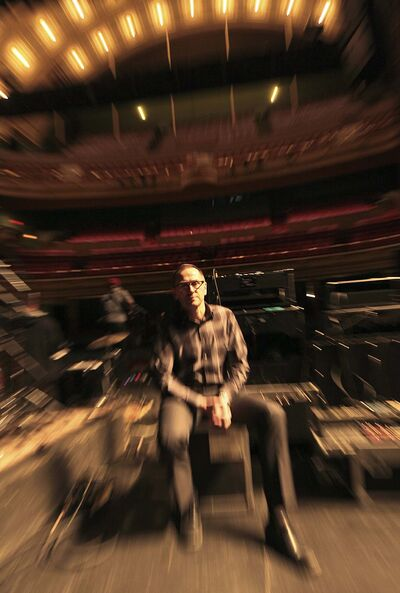 PHIL HOSSACK / WINNIPEG FREE PRESS</p><p>Kevin Donnelly onstage with the house at his back.</p>
