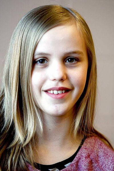 Aliegha Dixon, a Grade 5 student from  Opasquia  Elementary School in the Pas.