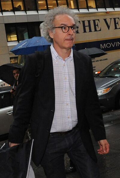 NHL players association general counsel Don Zavelo arrives at NHL headquarters in New York, Friday, Sept. 28, 2012. With the clock ticking down to the start of the season, the NHL and its locked-out players are talking again. (AP Photo/ Louis Lanzano)