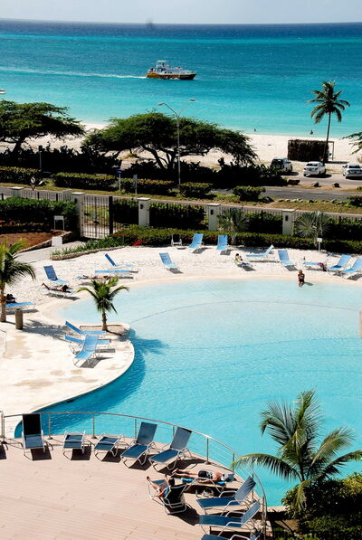 If you tire of the hotel pool, Eagle Beach beckons.