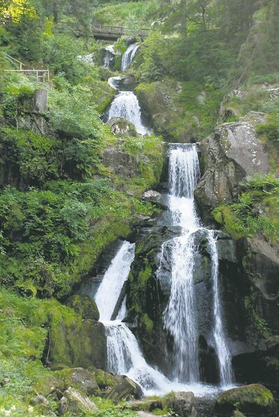 postmedia newsThe Gutach River plunges 163 metres over seven steps to form Triberg Waterfalls, Germany�s highest falls.