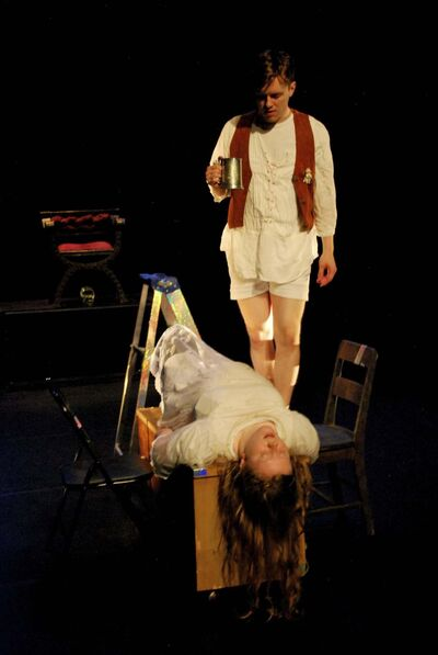 LEAH BORCHERT PHOTO</p><p>Scene from the play Inertia, which debuts at the Winnipeg Fringe Theatre Festival tonight at the Rachel Browne Theatre</p>