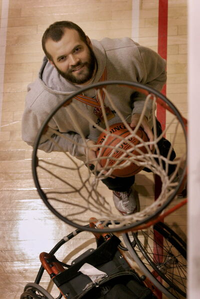 Bill Johnson (above) is an ardent supporter of wheelchair basketball and would love to see the sport flourish in Manitoba.