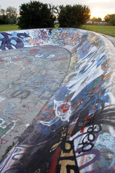 The skateboard park at Chornick Park was built in 1979. The park will be the site of announcement by Mayor Sam Katz and North Kildonan Coun. Jeff Browaty this morning.