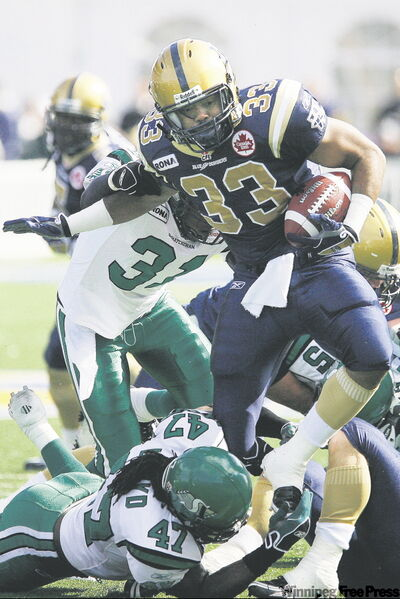 Joe Smith was the 2007 CFL rushing champ while with B.C. and rumbled for 381 yards and two TDs in eight games with the Bombers last season.