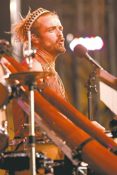 Aussie Xavier Rudd gets the blood pumping and the feet moving with his multi-instrumental, hyper-kinetic rhythms.