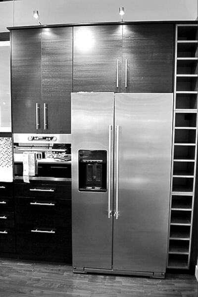 Nutid S23 fridge by IKEA, available in stainless-steel or white finish, $1999.