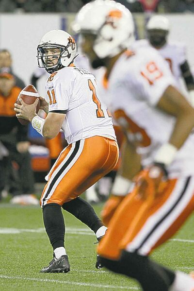 John Woods / the canadian pressLions quarterback Buck Pierce led his team on a second-half drive Friday, much to fans� delight.