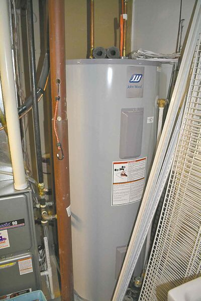 New 80-gallon water heater installed to provide sufficient hot water for jetted tub and shower.
