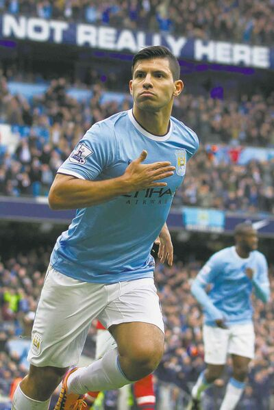Manchester City's Sergio Aguero will be back in the lineup Sunday vs. West Ham.