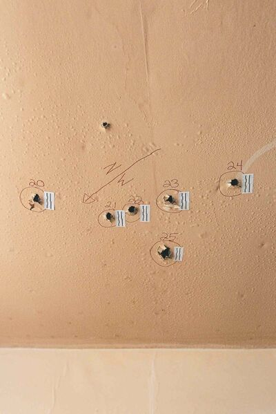 MIKE DEAL / WINNIPEG FREE PRESS Holes inside the house at 512 Stella Avenue where Andrew Baryluk died.