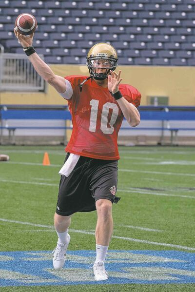 Bisons QB Jordan Yantz's primary goal is to show the Calgary Dinos the Herd is up to the challenge.
