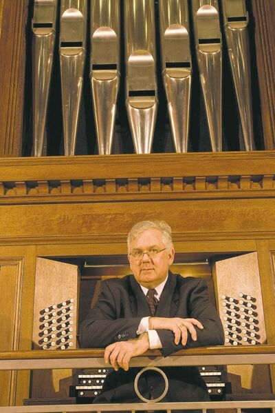 Boston organist James David Christie will perform four solo concertos at Westminster United Church on Thursday at 8 p.m.