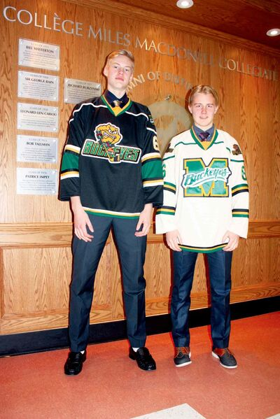 Miles Macdonell Buckeye players Samu Landen and Janne Pitkanen are major contributors to the team this season.