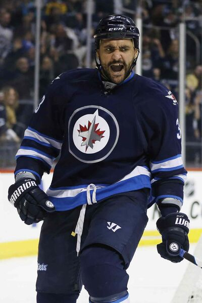Dustin Byfuglien has signed a five-year contract extension with an average annual value of $7.6 million.