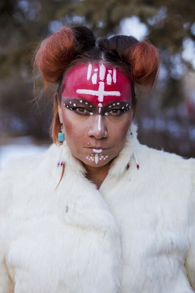 "indigenousmusicawards.com</p><p>Singer/songwriter Cikwes' album <em>Isko </em>is nominated in the folk music category. She performs music similar to throat singing and has admitted to ""imitating"" the art form.</p>"