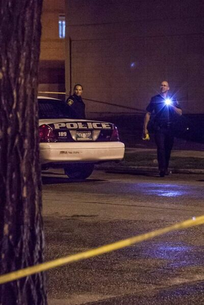 Winnipeg police officers investigate at Wolseley Avenue and Sherbrook Street between 1:45 am and 2:30 am.