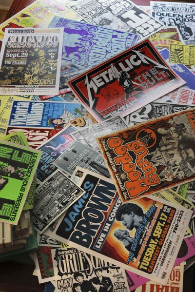 Stu Reid has been designing rock show posters for the Winnipeg music scene for over 30 years, from small local bands all the way up to big acts like Metallica and James Brown. (Colin Corneau / Winnipeg Free Press)