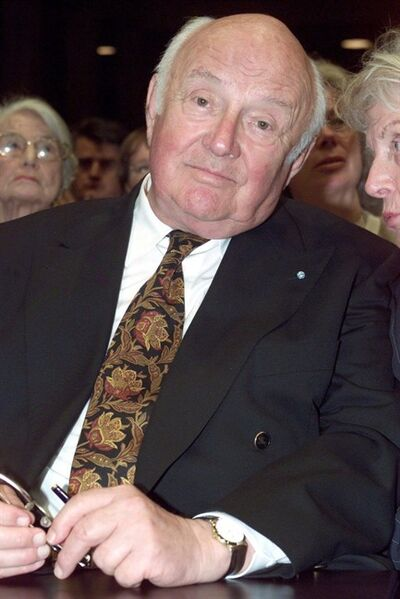 In this June 4, 2000 picture, German author Otfried Preussler attends an awarding ceremony in Munich, Germany. THE CANADIAN PRESS/AP, dpa, Stefan Puchner