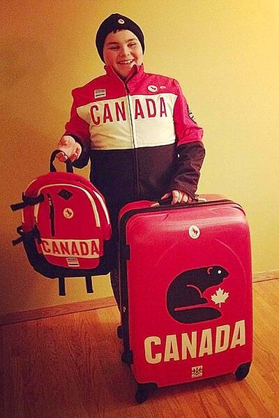 Spencer Lambert is all geared up for his trip to the 2014 Paralympic Games in Sochi, Russia.